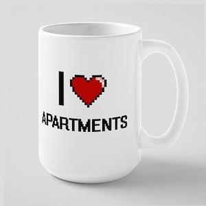 I Love Apartments Digitial Design Mugs