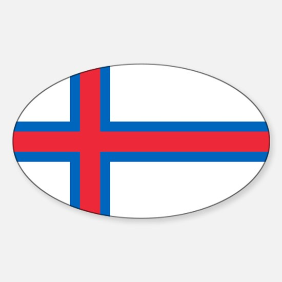 Faroe Islands Flag Sticker (Oval)