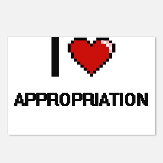 I Love Appropriation Digi Postcards (Package of 8)