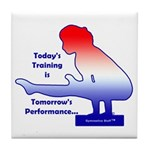 Gymnastics Tile Coaster - Training