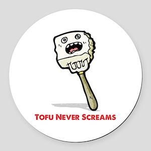 Tofu Round Car Magnet