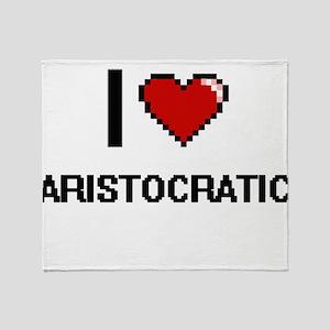I Love Aristocratic Digitial Design Throw Blanket