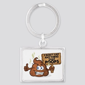 Poops Landscape Keychain