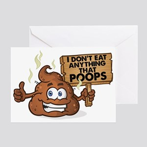 Poops Greeting Card