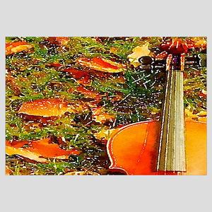 romantic fall leaves violin