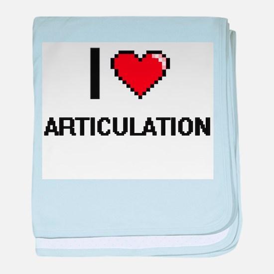 I Love Articulation Digitial Design baby blanket