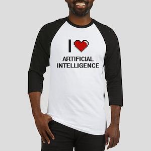 I Love Artificial Intelligence Dig Baseball Jersey
