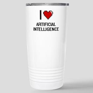 I Love Artificial Intel Stainless Steel Travel Mug