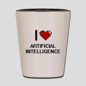 I Love Artificial Intelligence Digitial Shot Glass