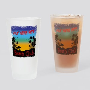 Morning Beach Club Drinking Glass
