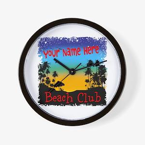 Morning Beach Club Wall Clock