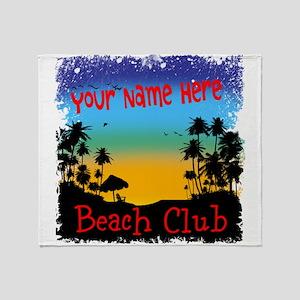 Morning Beach Club Throw Blanket