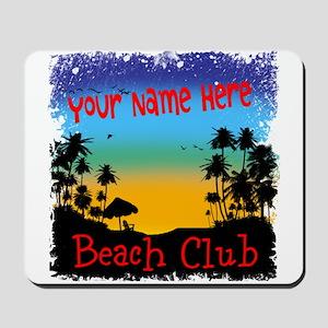 Morning Beach Club Mousepad