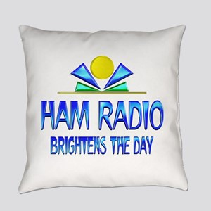 Ham Radio Brightens the Day Everyday Pillow