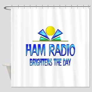 Ham Radio Brightens the Day Shower Curtain