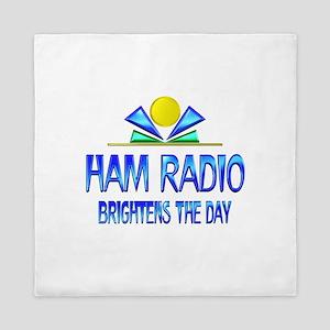 Ham Radio Brightens the Day Queen Duvet