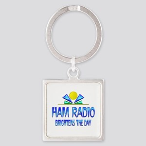 Ham Radio Brightens the Day Square Keychain