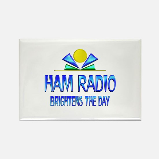 Ham Radio Brightens the Day Rectangle Magnet