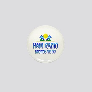 Ham Radio Brightens the Day Mini Button