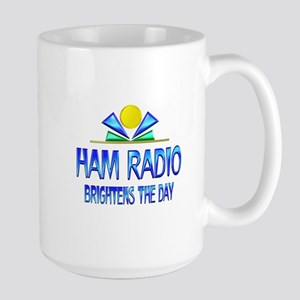 Ham Radio Brightens the Day Large Mug