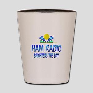 Ham Radio Brightens the Day Shot Glass