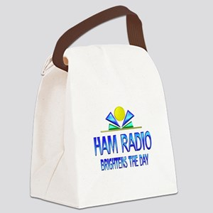 Ham Radio Brightens the Day Canvas Lunch Bag