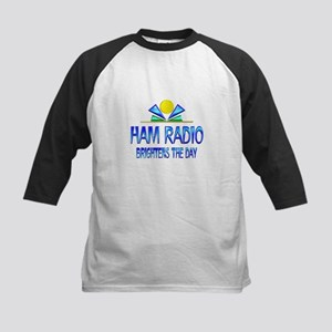 Ham Radio Brightens the Day Kids Baseball Jersey