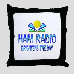 Ham Radio Brightens the Day Throw Pillow
