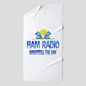 Ham Radio Brightens the Day Beach Towel