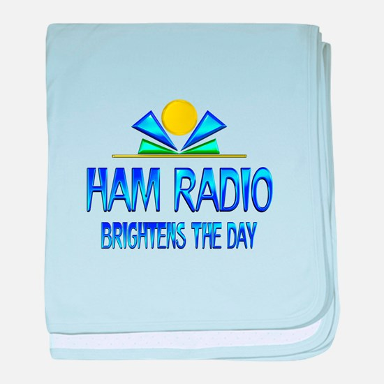 Ham Radio Brightens the Day baby blanket