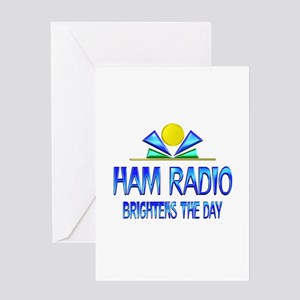 Ham Radio Brightens the Day Greeting Card