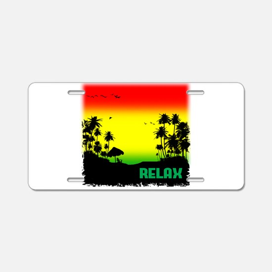 relaxation Aluminum License Plate