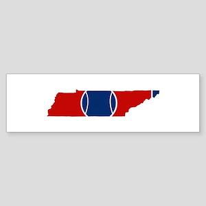 Tennis-ee State Flag Bumper Sticker