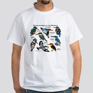 Kingfishers of the World White T-Shirt