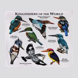 Kingfishers of the World Throw Blanket