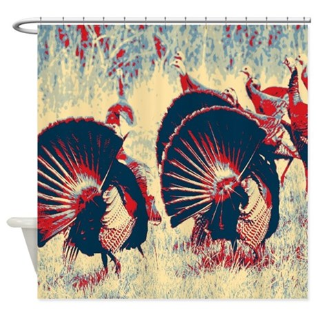 Vintage American Wild Turkey Shower Curtain By Listing Store 62325139