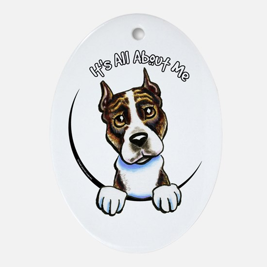 AMSTAFF Brindle IAAM Ornament (Oval)