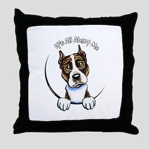 AMSTAFF Brindle IAAM Throw Pillow