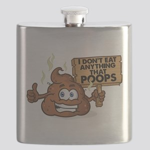 I Don't Eat Anything that Poops Flask