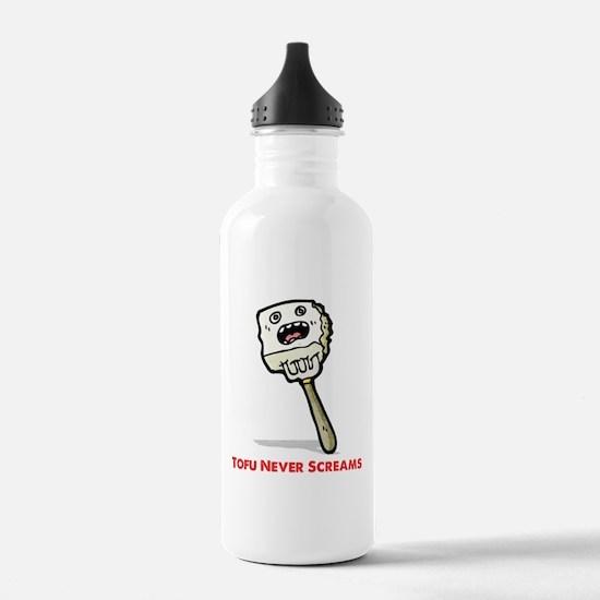 Tofu Never Screams Water Bottle