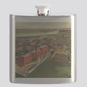 Vintage Pictorial map of Boston (1902) Flask