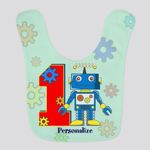 1st Birthday Robot Custom Bib