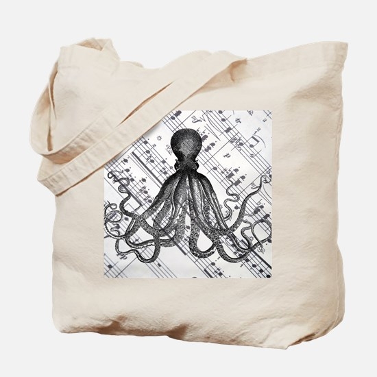 vintage nautical steampunk octopus Tote Bag