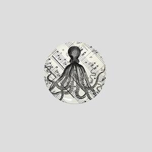 vintage nautical steampunk octopus Mini Button