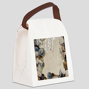 summer ocean beach seashells Canvas Lunch Bag