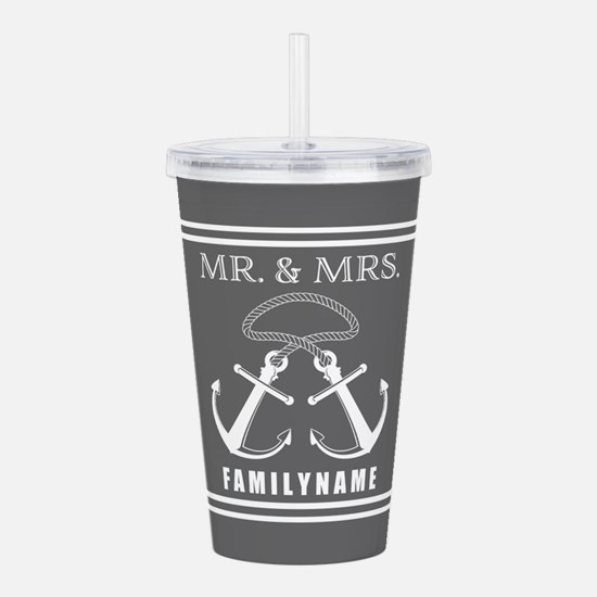 Double Anchor Rope Mr and Mrs Personalized Acrylic