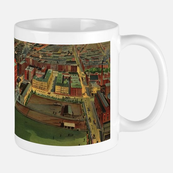 Vintage Pictorial map of Boston (1902) Mugs