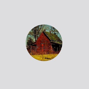 western country red barn Mini Button