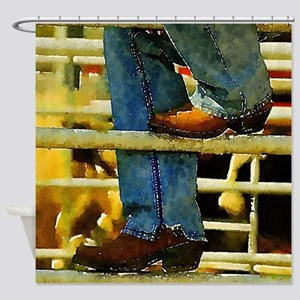 western country rodeo cowboy Shower Curtain