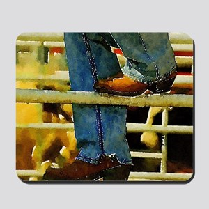 western country rodeo cowboy Mousepad